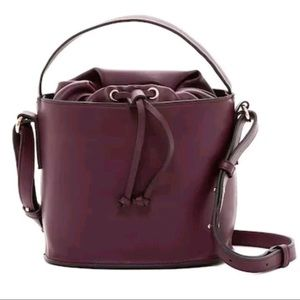 French Connection Dane Bucket Bag Purple NWT